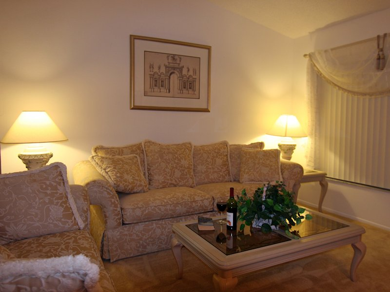 Second living area for a relaxing read or glass of wine