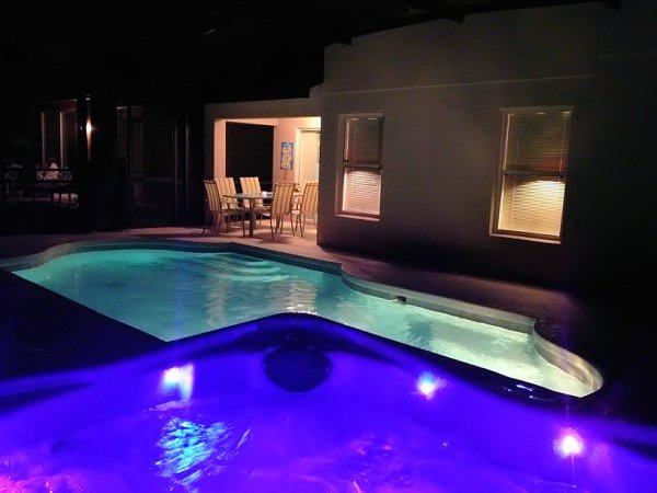 Pool & Spa with mood lighting