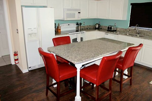 KITCHEN WITH GRANITE WORK SURFACE