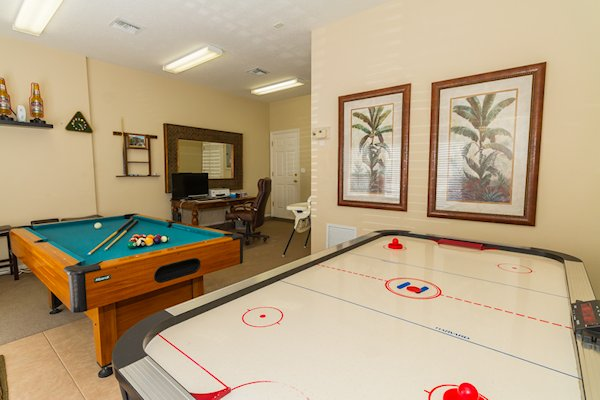 games room & office area