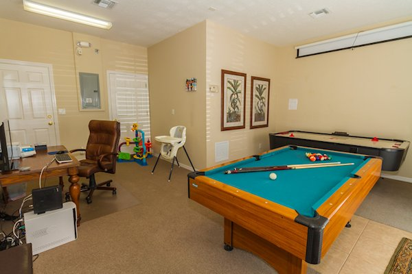 fully air conditioned games room