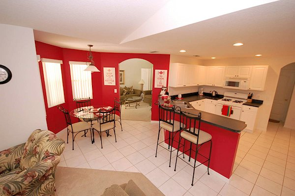 Nook and open plan  Kitchen