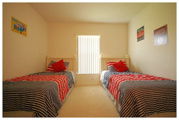 One of the two twin rooms - suits all ages