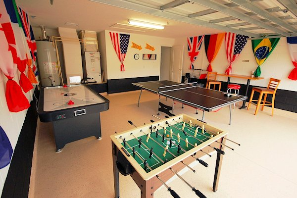 Games Room with Air Hockey, Ping Pong and Foosball