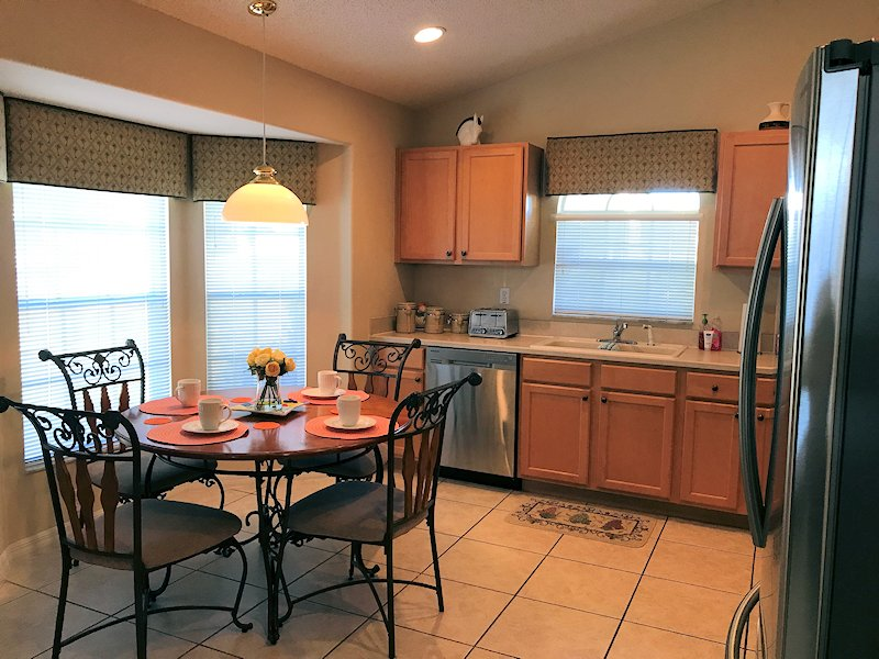 Kitchen with dinette area