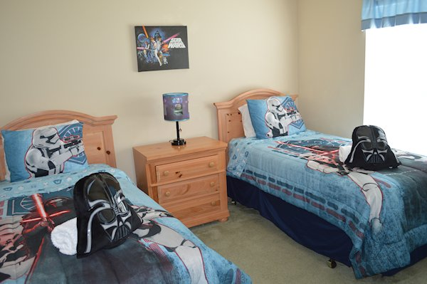 Bedroom #4 with twin beds and Flat Screen TV/DVD Player