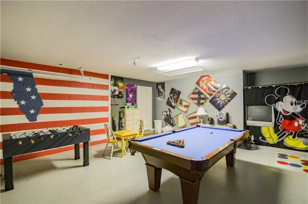Foosball, pool table, tv and much more