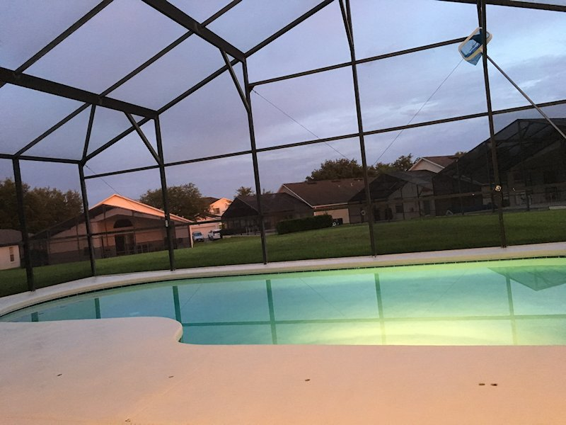 Gorgeous night sitting at the pool