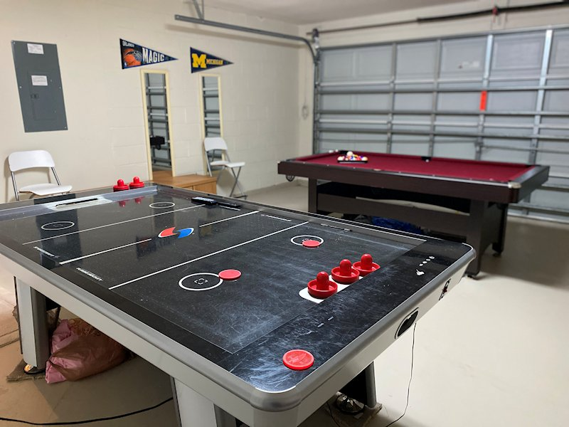 Enjoy a game of pool in the games room