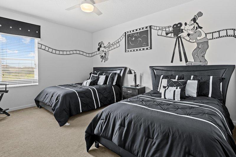 Hollywood studios themed bedroom